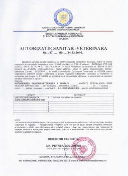 Autorizatie Sanitar Veterinara