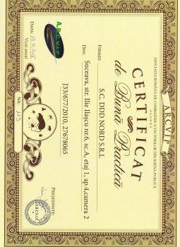 Certificat de Buna Practica – ARCVIP