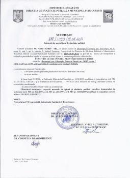 Notificare Asistenta de Specialitate de Santate Publica