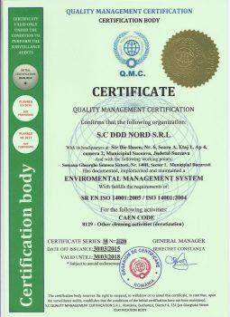 Certifcate – Eviromental Management System