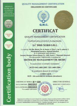 Certificare – Sistem de Management de Mediu